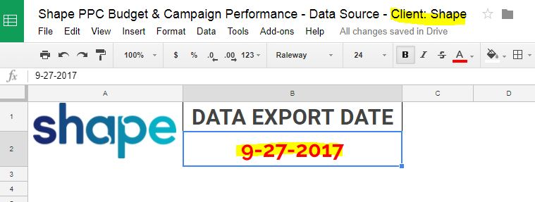 The export date is important for communicating recency of report information to your client.
