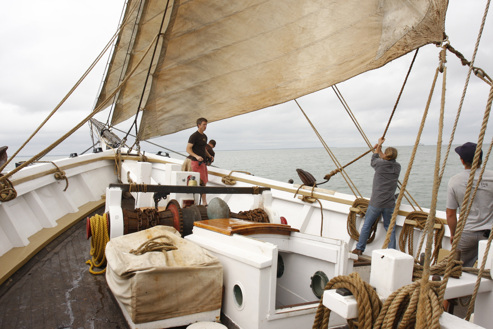 SHENANDOAH, 108' square topsail schooner with no auxiliary power