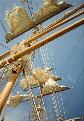SEA CLOUD - sails tattered after a gale