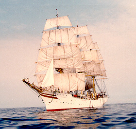 SORLANDET - Norweigian. Oldest full rigged ship still in operation. Launched in 1927
