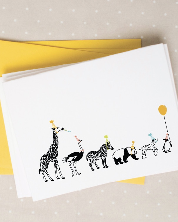 Party Animals Note Cards by Caravan Shoppe