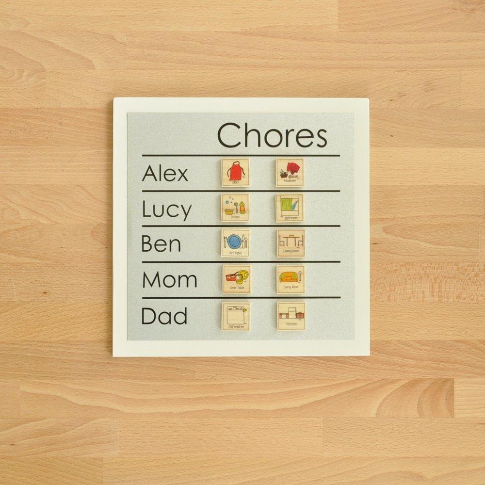 9x9 family chore chart