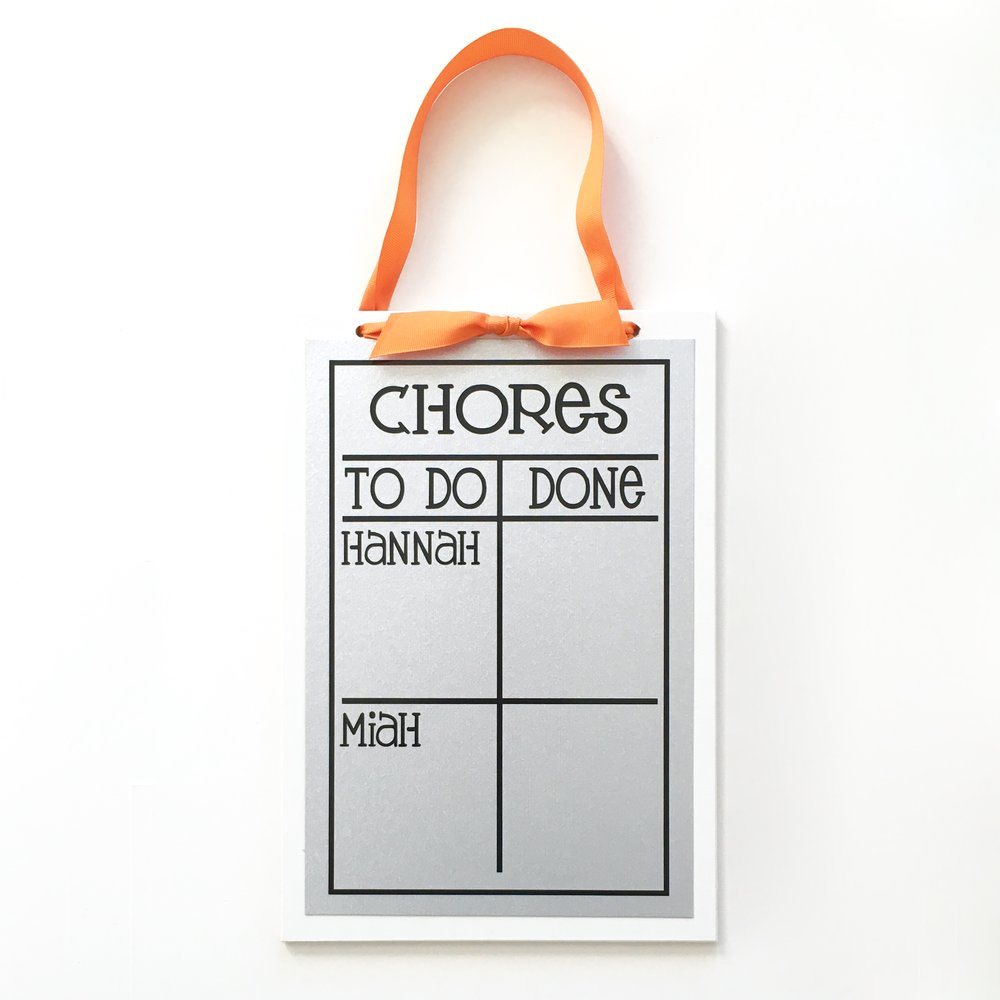 9x13 multiple name chore chart