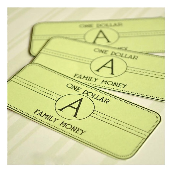 printable family money