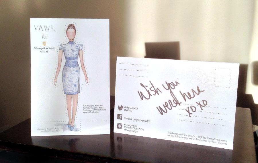 Benjamin-EdwardPostcard-VAWK-Shangri-La-Paper-Doll-Sunny-Fong-Ming-Vase-Lobby-Uniform.jpg