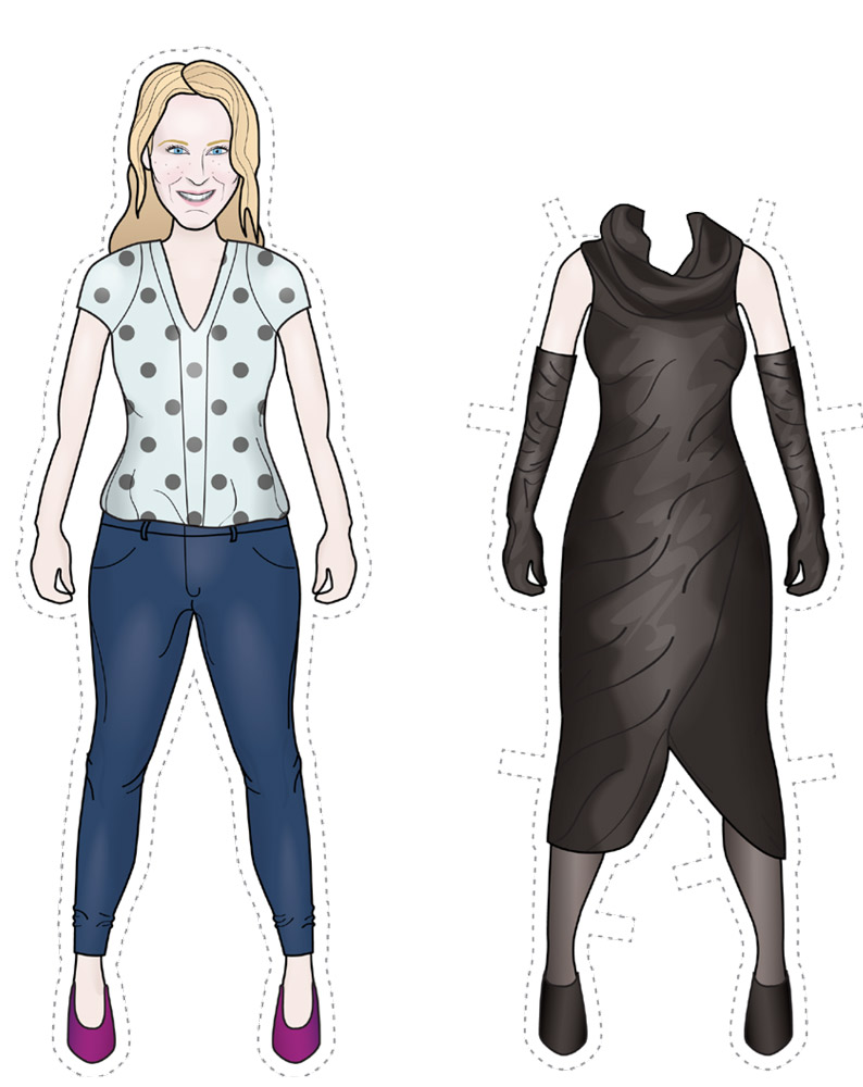 All Dressed Up Custom Paper Dolls