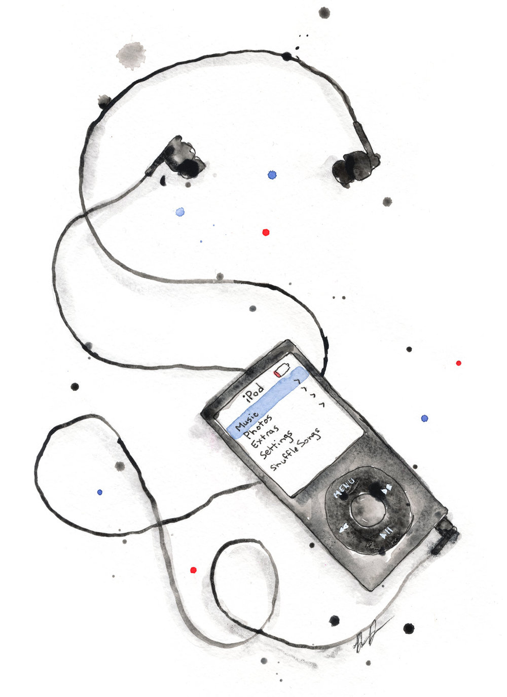 Benjamin-Edward-iPod-watercolour-Illustration.jpg