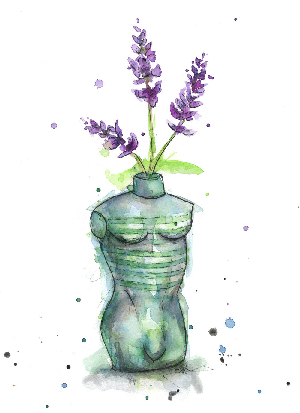 Benjamin-Edward-Jean-Paul-Gaultier-Le-Male-Lavender-Flower-watercolour-illustration.jpg