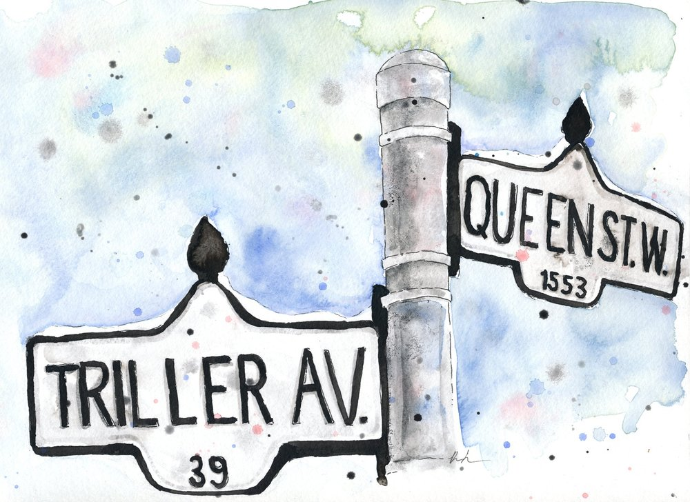 Benjamin-Edward-Queen-Street-West-Triller-Avenue-Toronto-Parkdale-Queens-End-watercolour-illustration.jpg