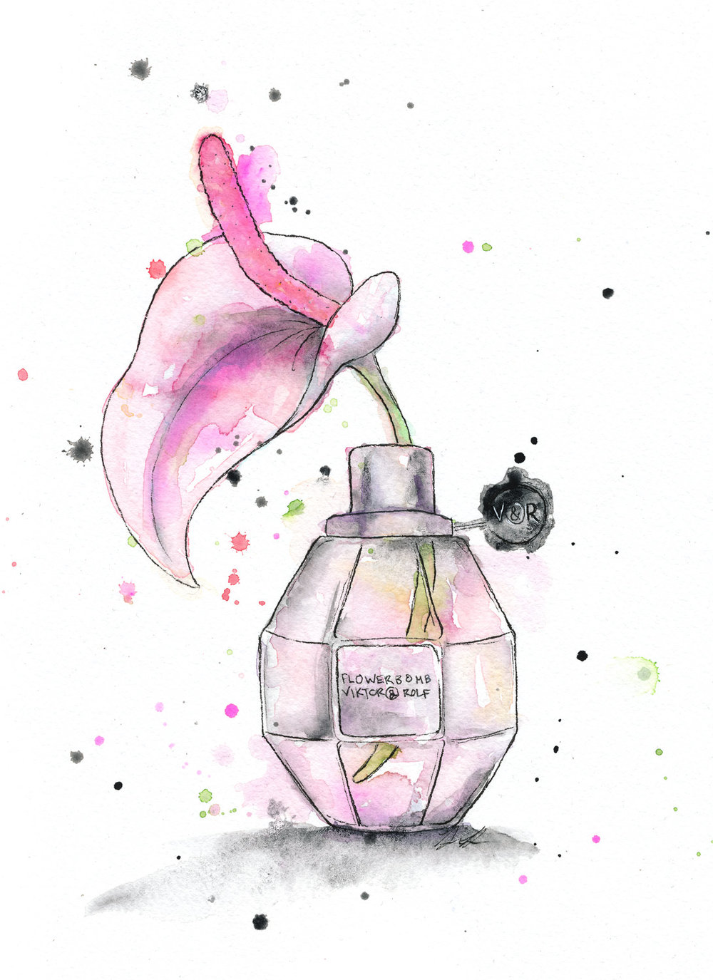 Benjamin-Edward-Viktor-Rolf-Flowerbomb-Peace-Lily-Perfume-watercolour-illustration.jpg