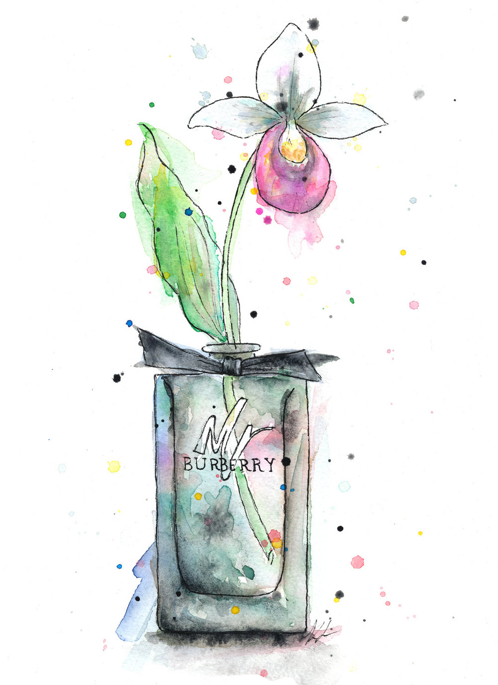 Benjamin-Edward-Mr-Burberry-Lady-Slipper-Cologne-Perfume-watercolour-illustration.jpg