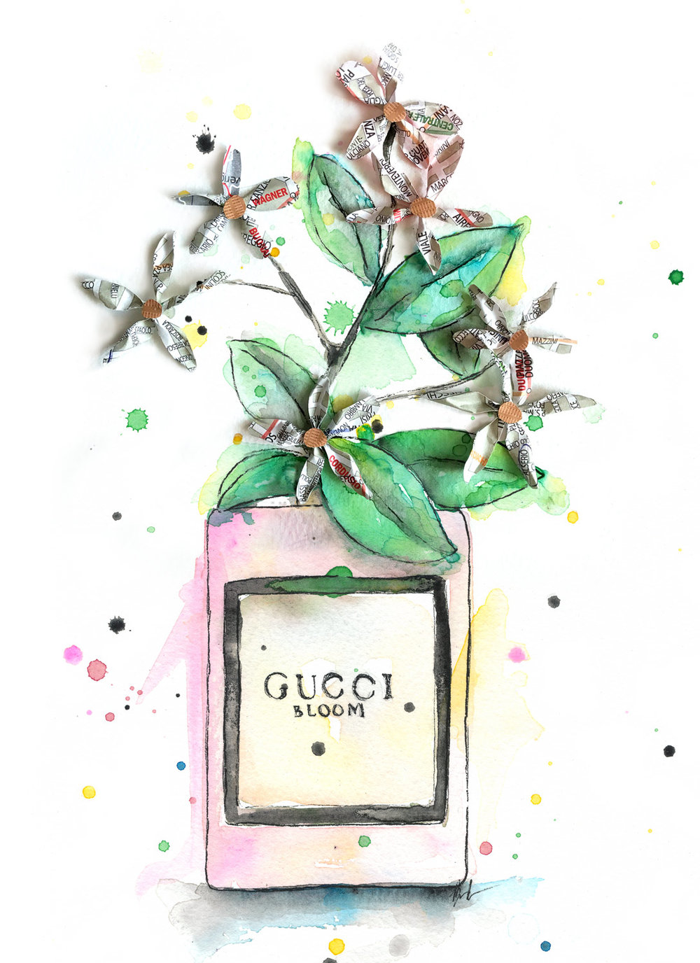 Benjamin-Edward-Gucci-Blume-Parfum-Perfume-watercolour-illustration-Papercraft-Paper-Flowers-Map-Milan-Milano.jpg