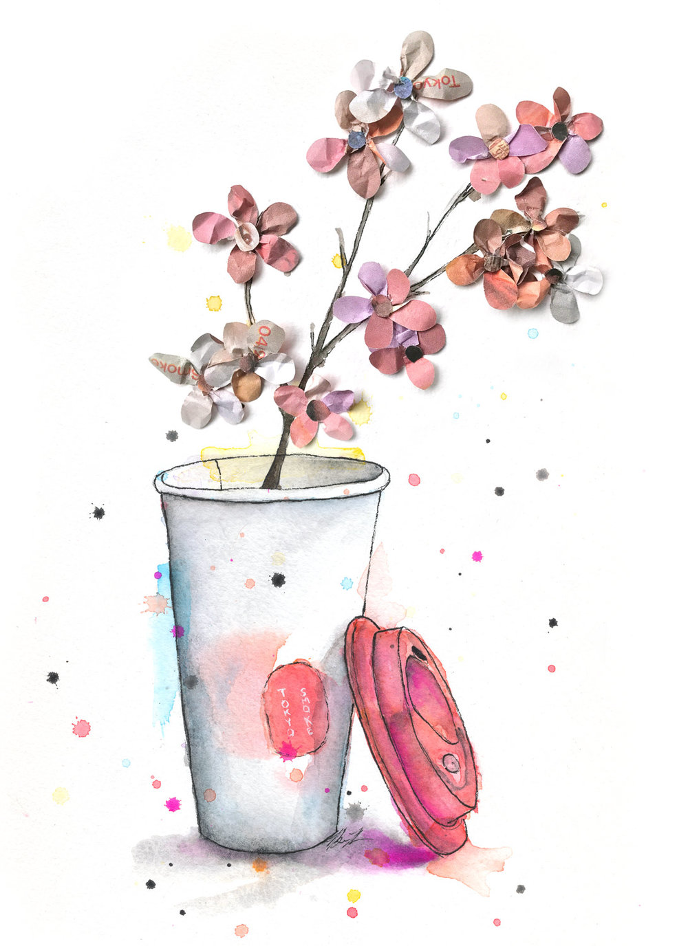 Benjamin-Edward-Tokyo-Smoke-Coffee-Sakura-Cherry-Blossoms-watercolour-illustration.jpg