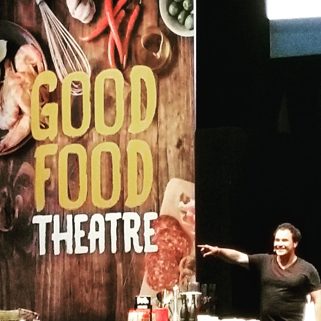 Miguel knows the way to Lankan Tucker... #lankantucker #goodFoodAndWineShow #melbourne #miguelMaestre #n20 #theLivingRoom