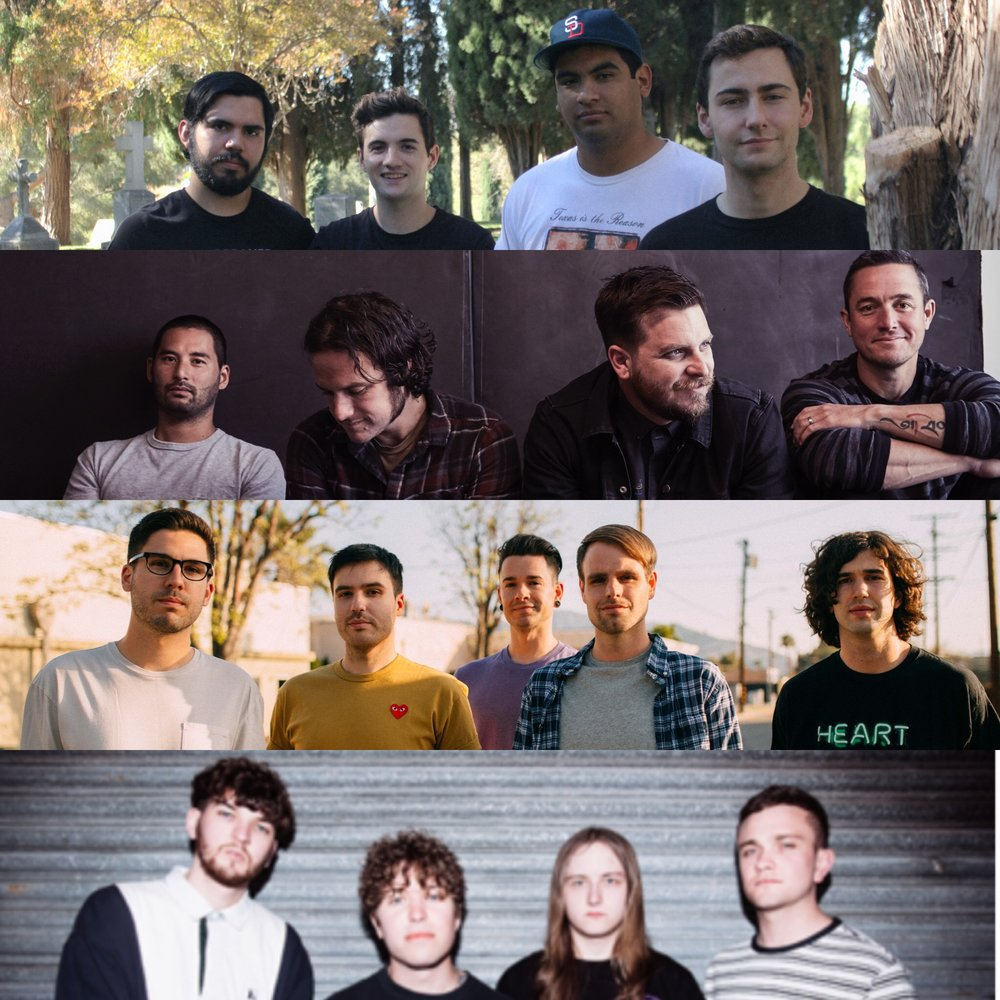 FROM TOP TO BOTTOM: NO BETTER, THRICE (PC: DAN MONICK), REAL FRIENDS (PC: MEGAN LEETZ), WSTR
