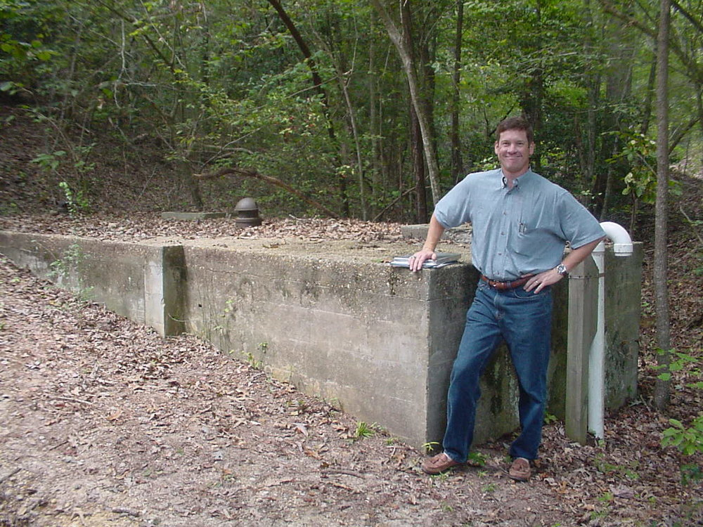 A&O Vice President, Glenn Zeblo, PE, at a job site in 2002
