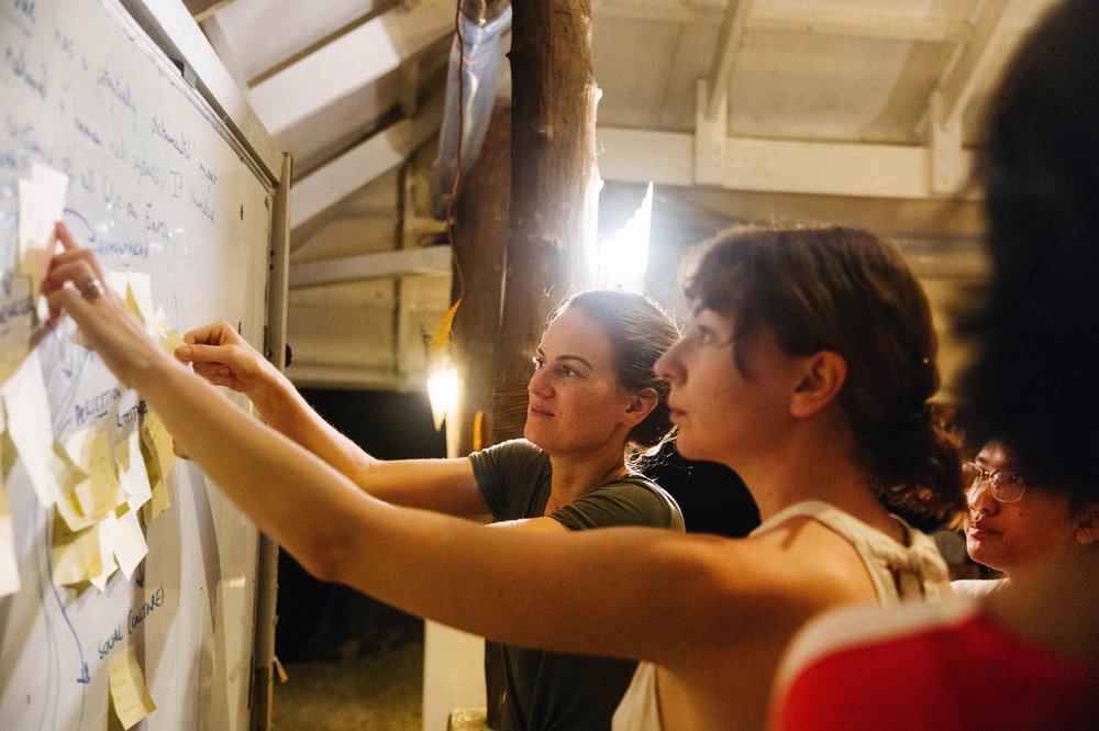 @jaxoliverstudio captures raw intensity of a Brainmelt workshop, during VOPO Earth's signature Wild Enterprise eco-incubator program off-grid in Danjugan Sanctuary.