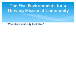 2 The Five Environments of a Thriving Missional Community.003-001