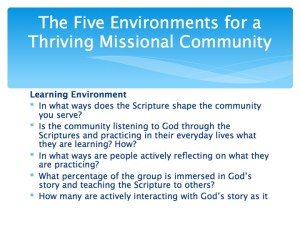 2 The Five Environments of a Thriving Missional Community.006-001