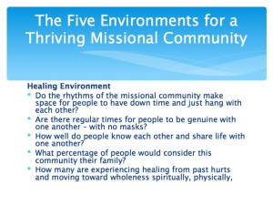 2 The Five Environments of a Thriving Missional Community.007-001