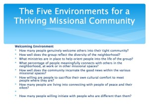 2 The Five Environments of a Thriving Missional Community.008-001