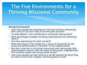 2 The Five Environments of a Thriving Missional Community.010-001