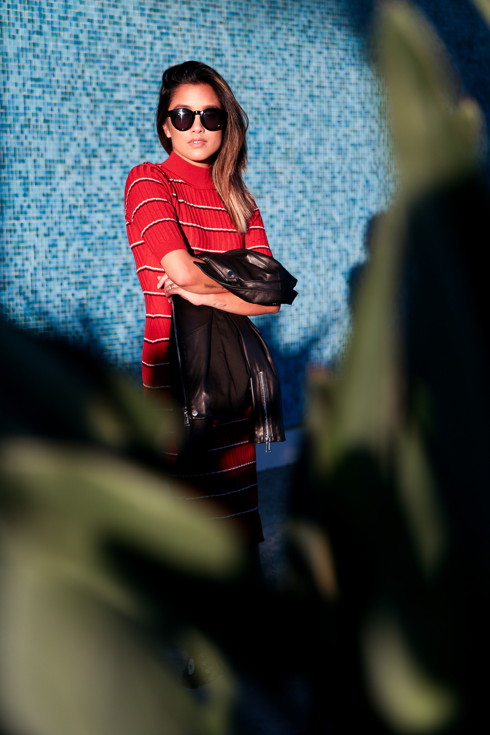missguided   dress   | BCBGen   jacket   |   chucks   | crap   sunnies   | photos by    jon macarewa