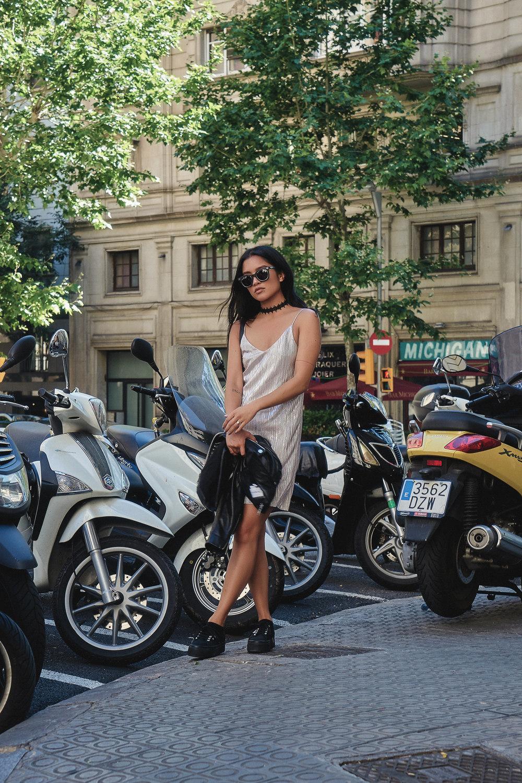 bershka dress  |  bcbgen jacket  |   superga shoes   |   crap shades   |   UO choker   |    photos by sean martin