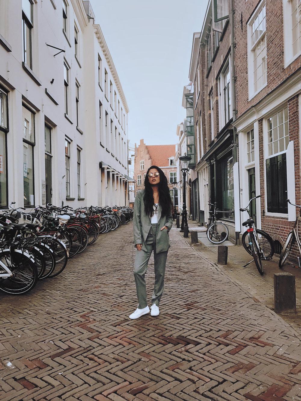 h&m jacket | h&m pants | delphine bodysuit | crap eyewear shades | kenneth cole sneakers | photo by sean martin