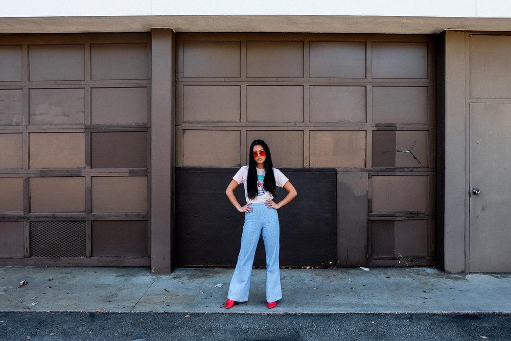 monogram tee | aa pants |  zeroUV shades  | zara booties | photos shot by  michael alvarado  & edited by me