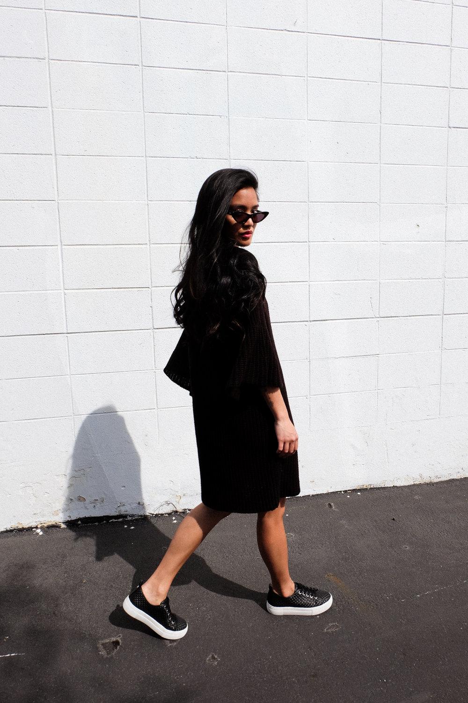 maurie & eve dress  |  jslides sneakers  |  crap eyewear shades  |  photos shot by michael alvarado