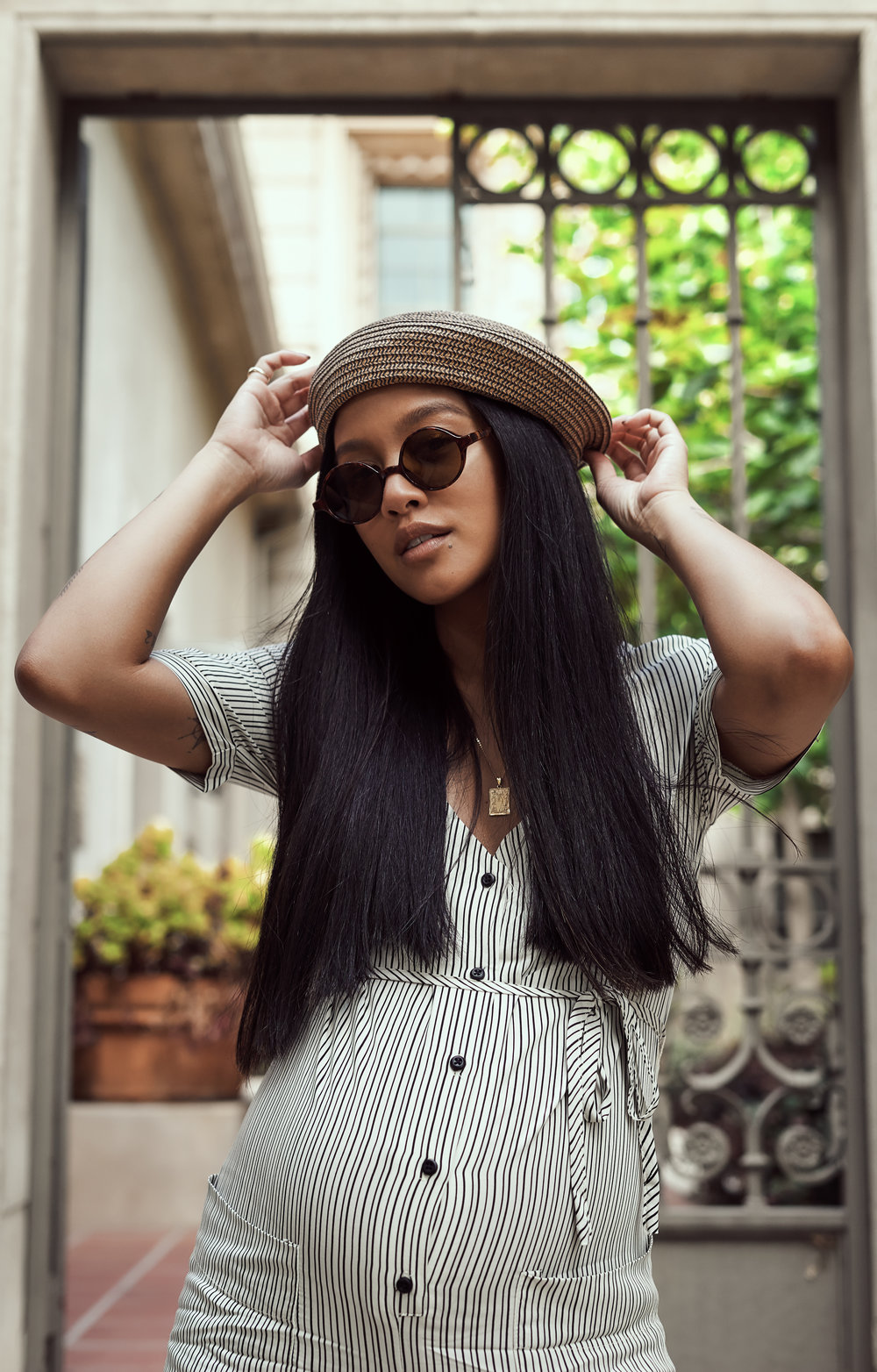 clad & cloth jumpsuit  |  clad & cloth slides  |  uo beret  |  uo shades  |  photos by sean martin