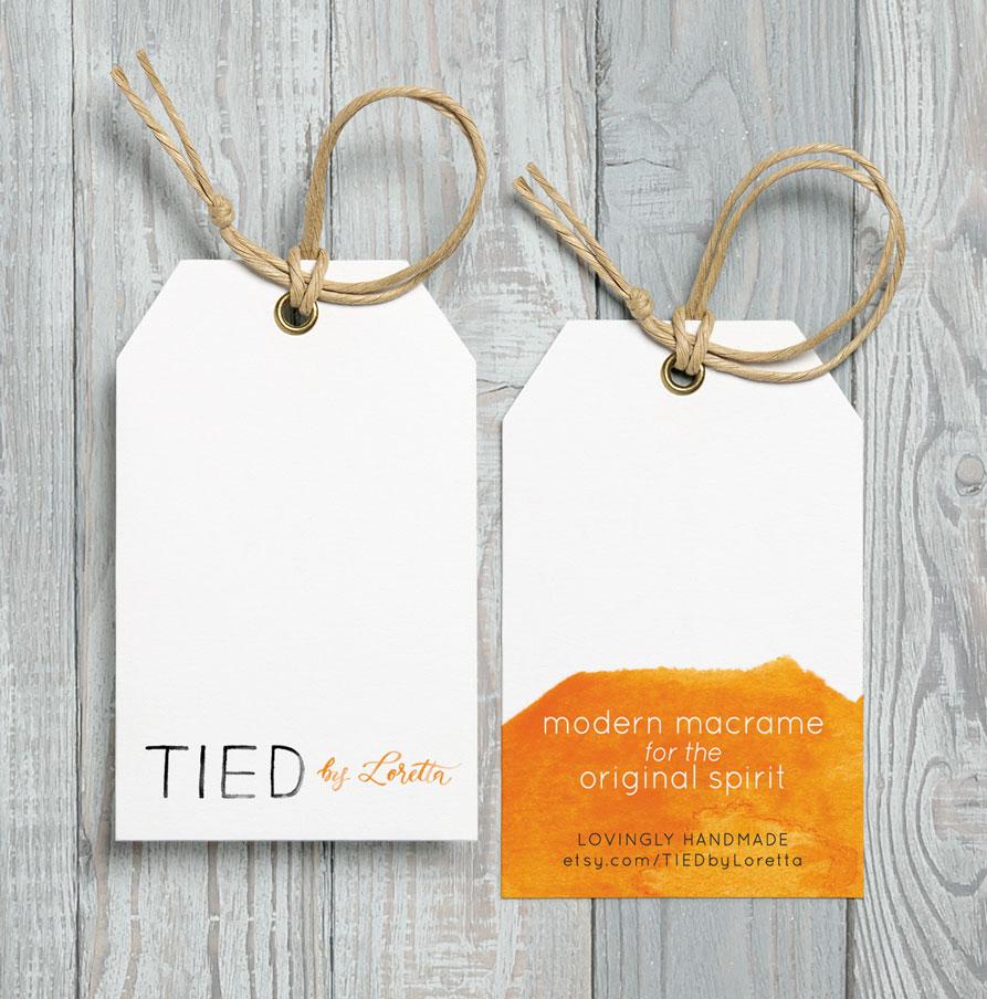 custom watercolor logo hang tags