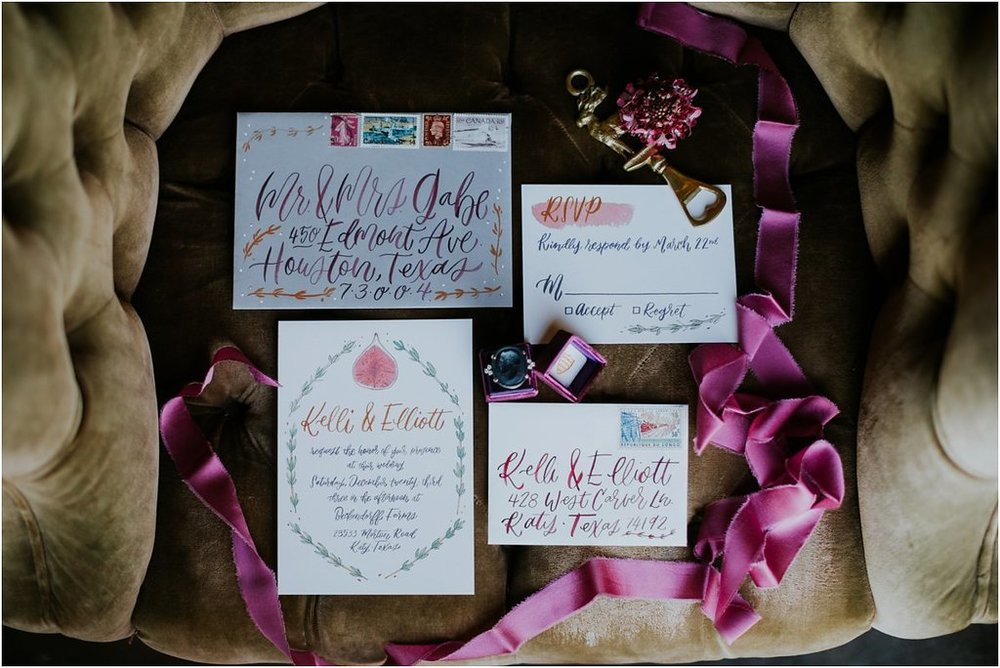 fig and thyme scotland wedding invitations