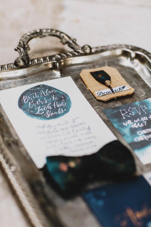printable celestial wedding invitation