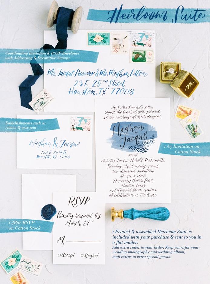 simply watercolor printable invitation suite