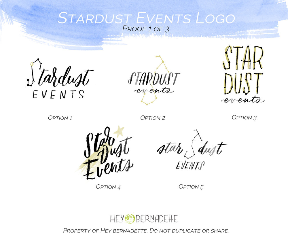 Fully illustrated logo design package - first round of 3-5 sketches.