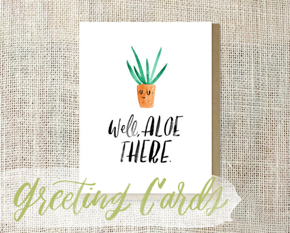 watercolor illustrated cotton greeting cards hey bernadette
