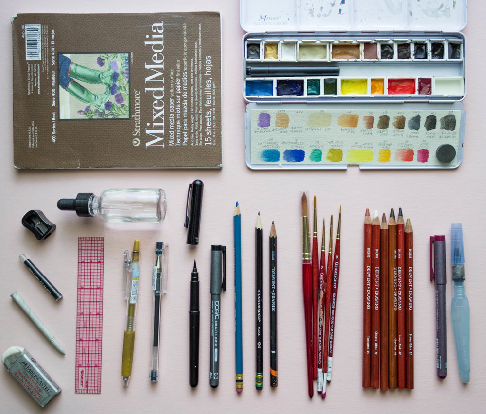 my favorite watercolor travel art supplies.jpg
