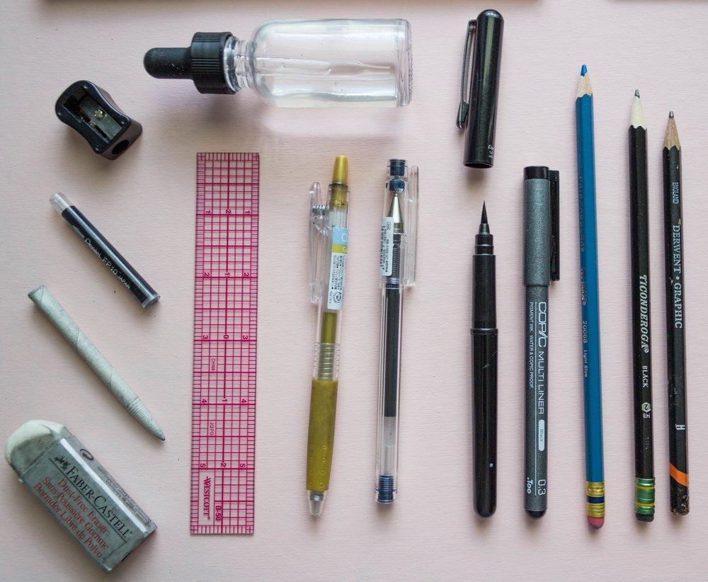 favorite watercolor supplies for travel sketching hey bernadette