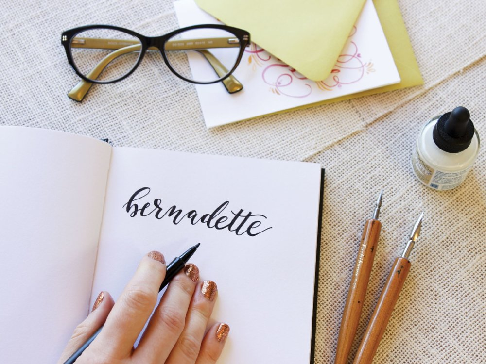 faux calligraphy how to guide by hey bernadette