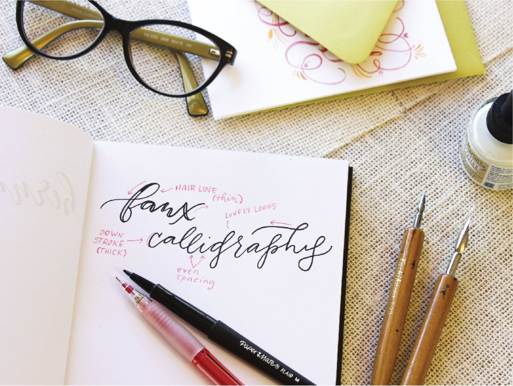 faux calligraphy how to tutorial by hey bernadette