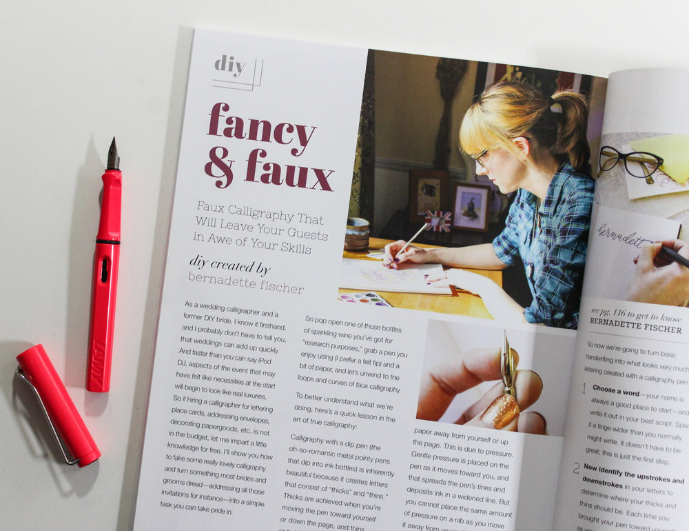 Fancy and Faux. A calligraphy tutorial for Catalyst magazine.