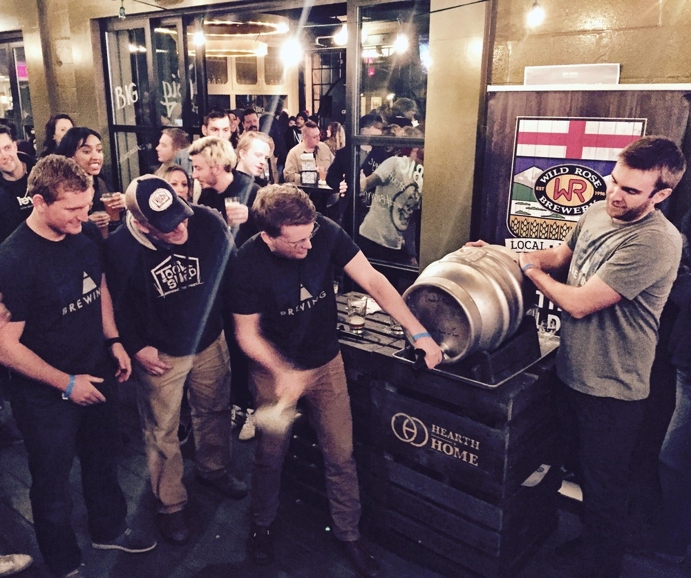 First of many casks being tapped at the Big Winter Classic