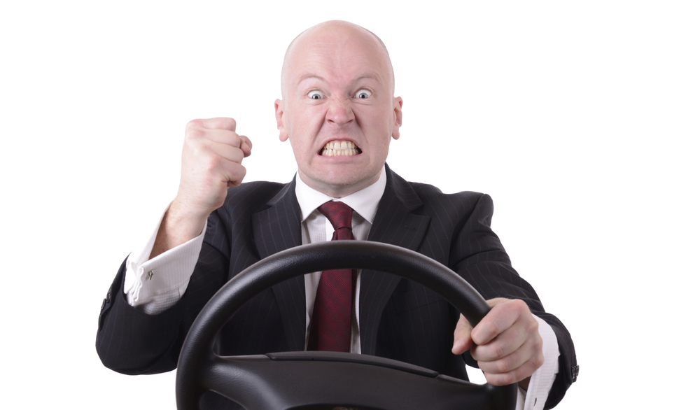 Don't be this guy. Avoid road rage - listen to podcasts and make use of your commute to your employee-model firm.