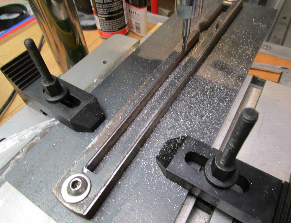 Milling mild steel folding block