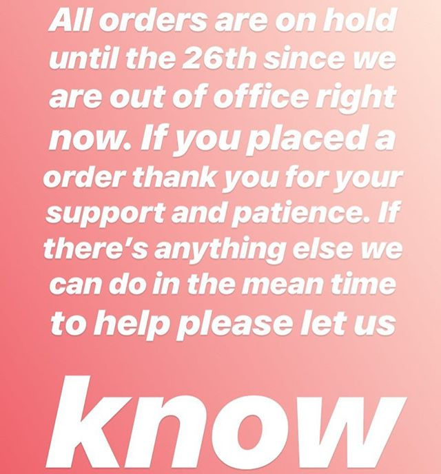 We appreciate you all! All orders will be sent out Thursday the 26th. Thank you again 🙏🏽