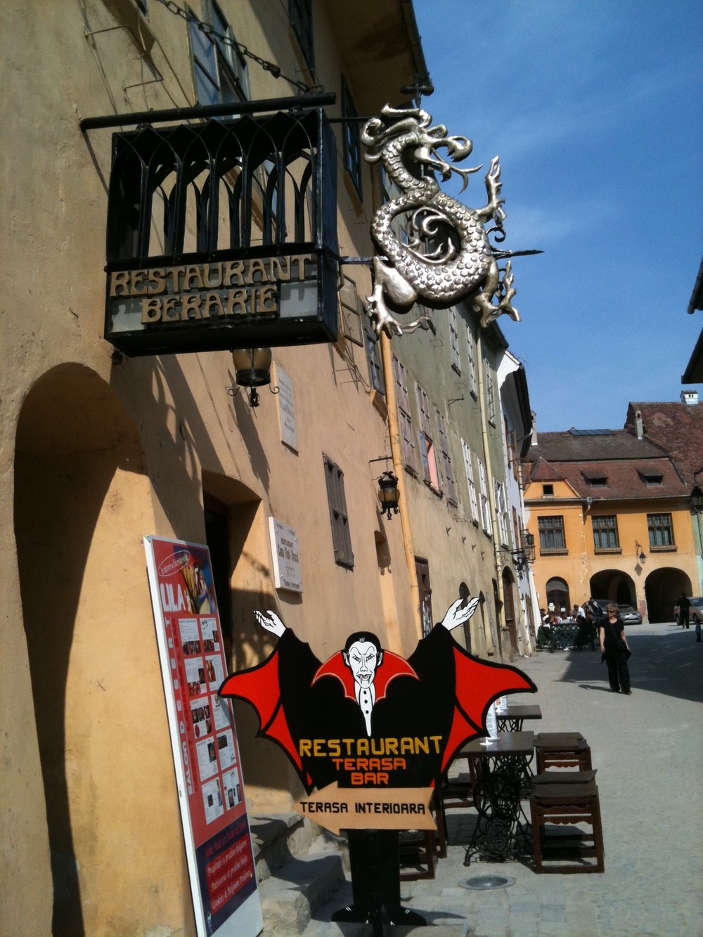 Vlad Dracul's birthplace turned into a restaurant