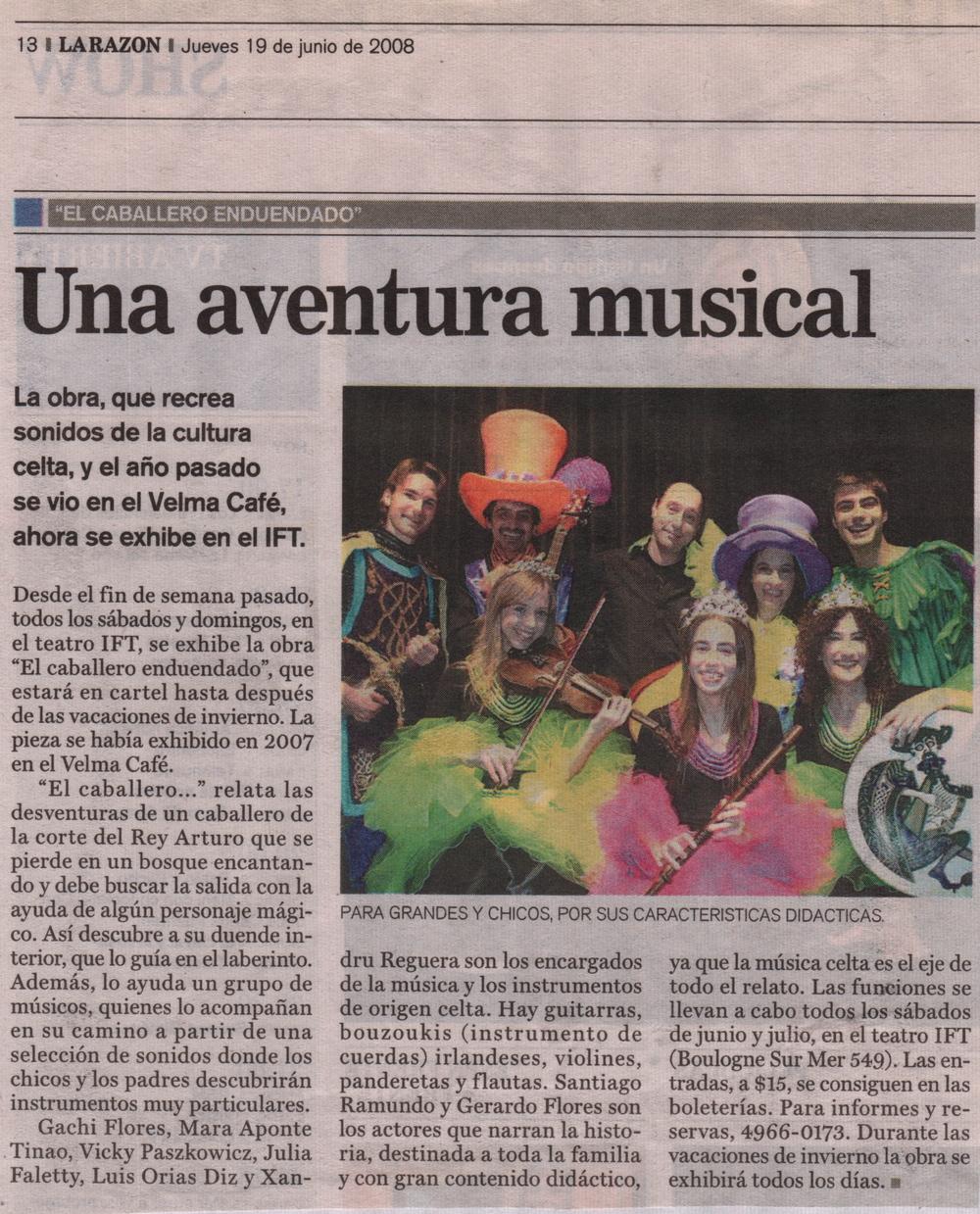 """Gerard Flores - """"La Razón"""" (Argentinian Newspaper)"""