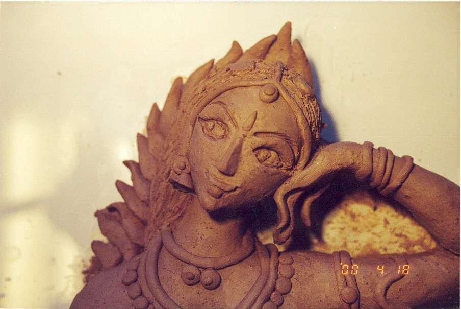 Parvathi - Detail from Tandavam